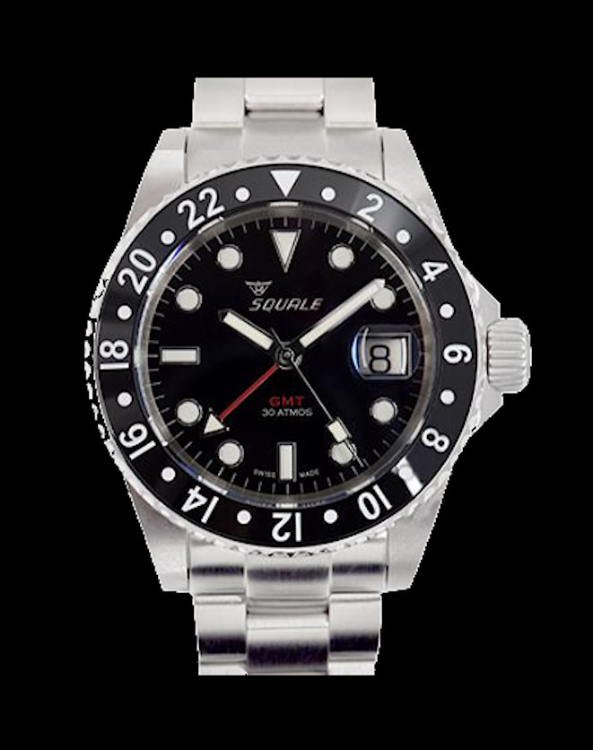 Squale 30 atmos Black GMT Ceramica Dive Watch