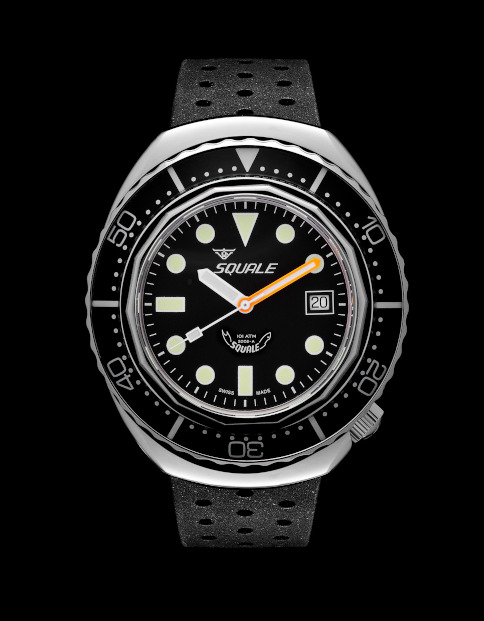 Squale 101 atmos 2002 Dive Watch - Black Dots Blasted