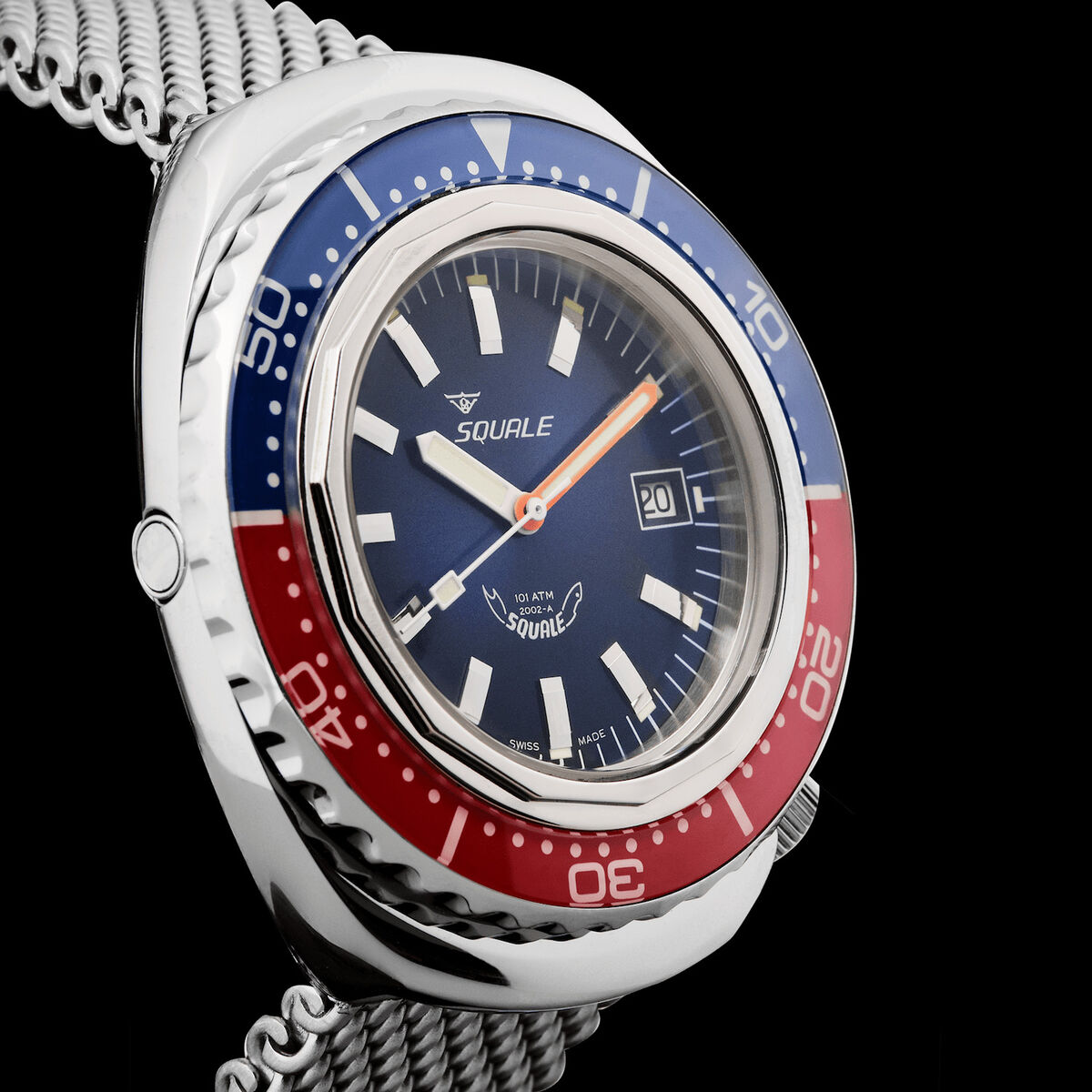 Squale Blue-Red 101 atmos 2002 Dive Watch Released