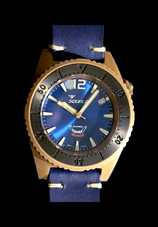 Squale 50 atmos Bronze Blue
