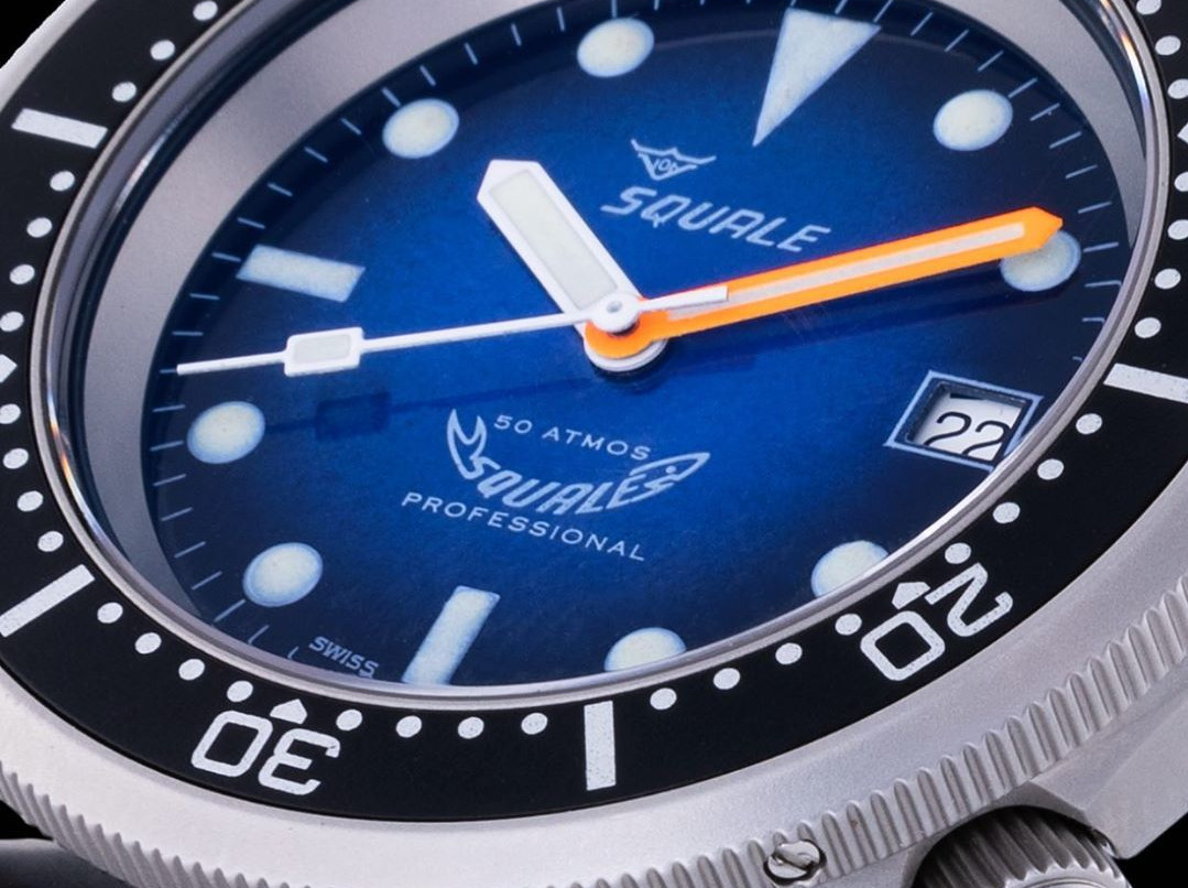 Smokey Blue Soleil 50 atmos with enchanting dial