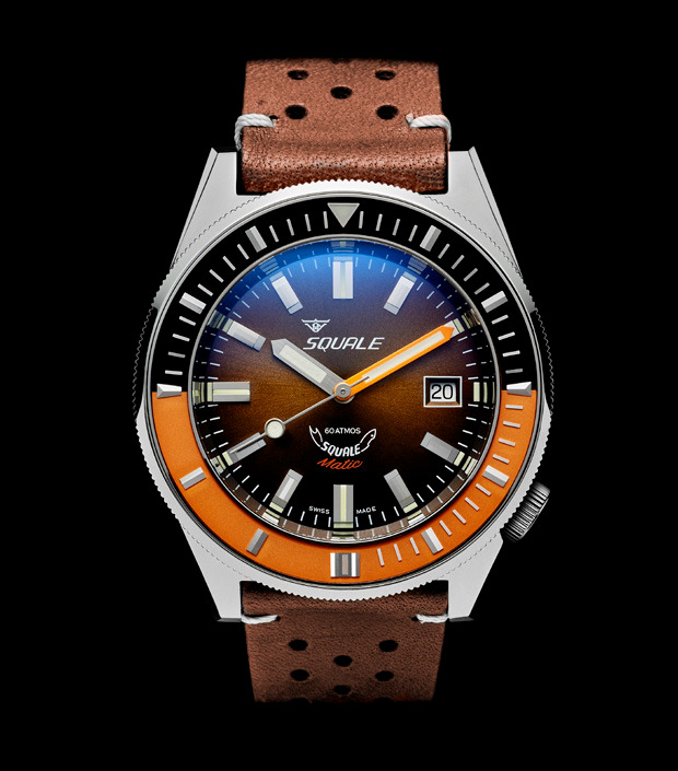 Squale 60 atmos - Squalematic - Brown